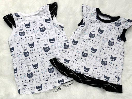 Katzen-Trägerkleid und Sommertop