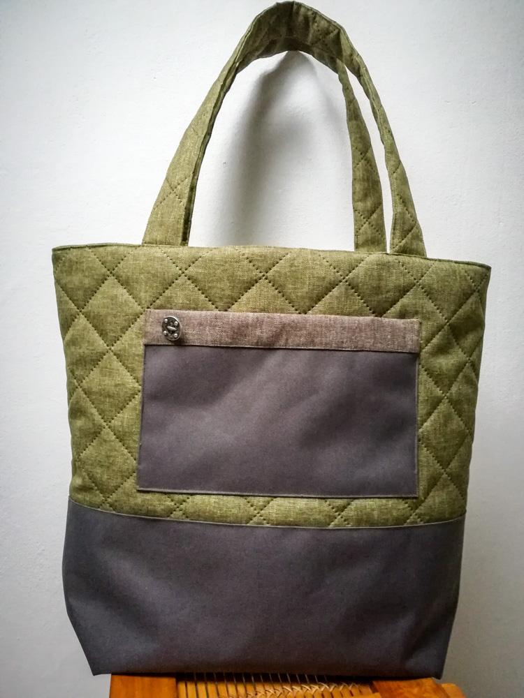 Big Shopper Einkaufstasche in grün, Aussenansicht